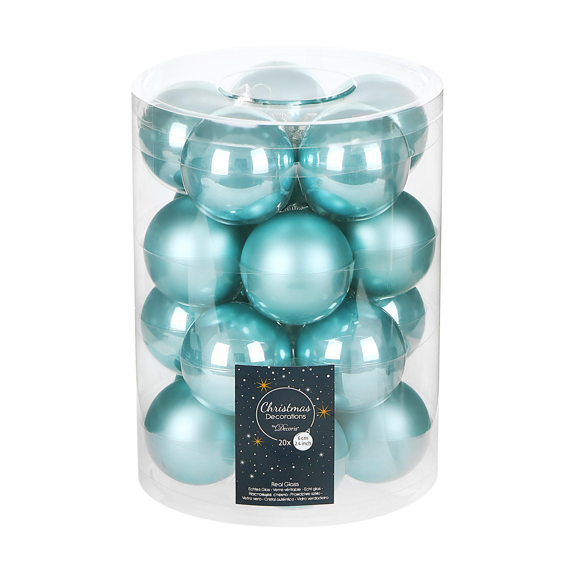 Набор шаров на елку Kaemingk 6см 20шт голубой