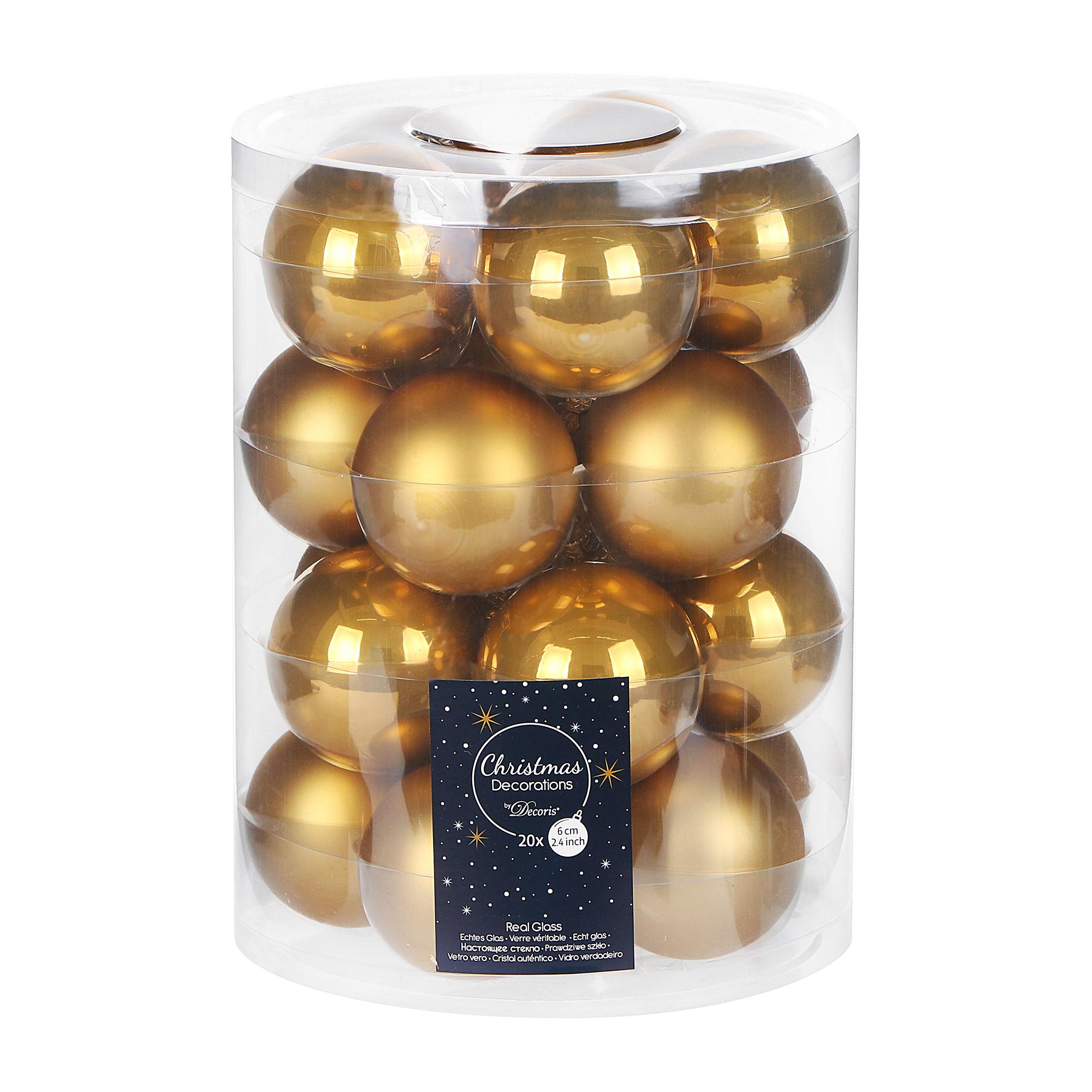 Набор шаров на елку Kaemingk 6см 20шт золото