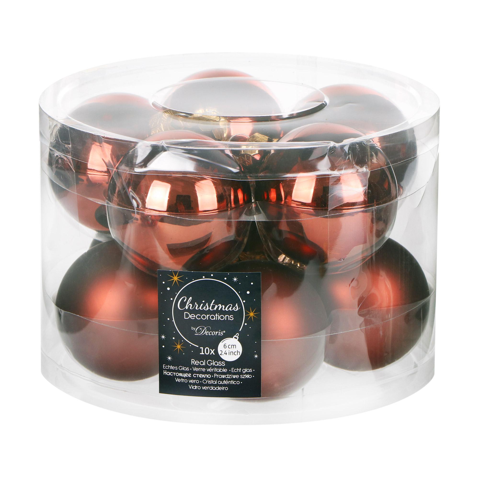 Набор шаров в тубе Kaemingk 6см 10шт бордо стекло набор шаров в тубе kaemingk 6см 10шт бордо стекло