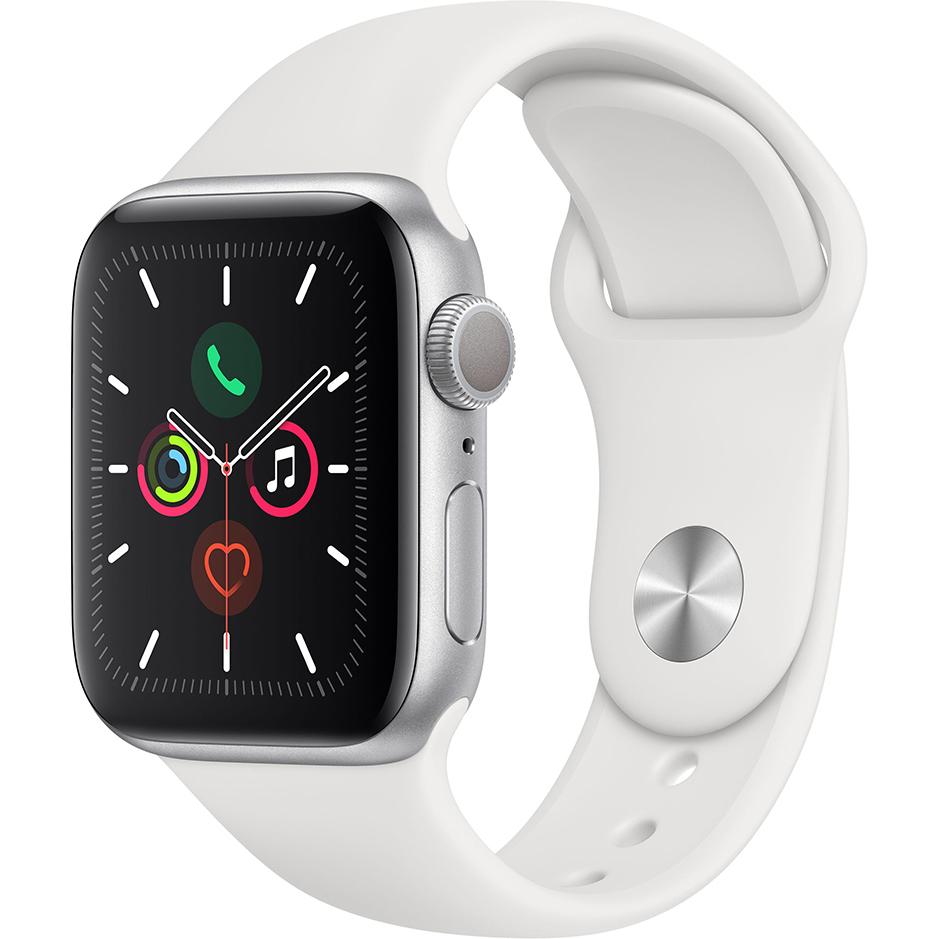 Фото - Умные часы Apple Watch Series 5 44 мм серебристый MWVD2RU/A ремешок для смарт часов devia deluxe sport 3 для apple watch 4 44 мм оранжевый