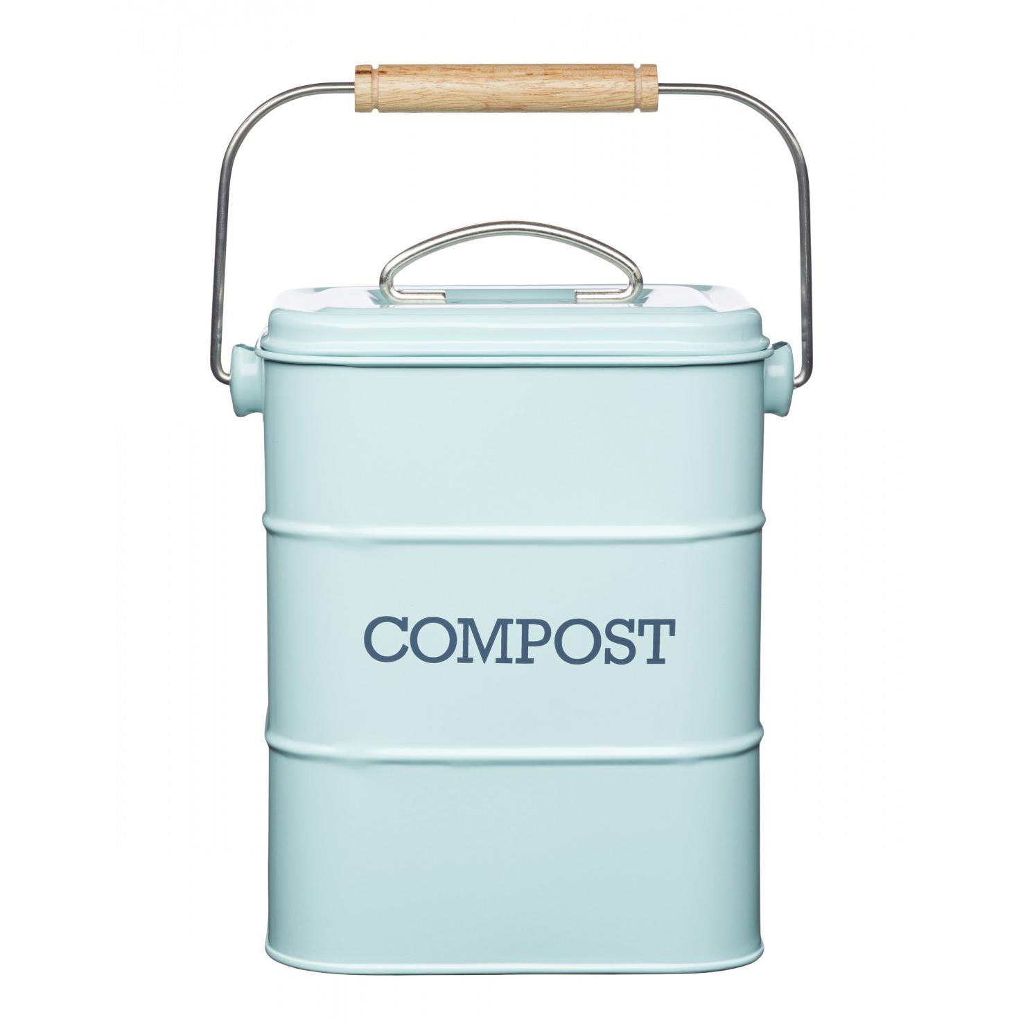 Бак для мусора Kitchen Craft Living Nostalgia blue 16,5х12х24 см фото