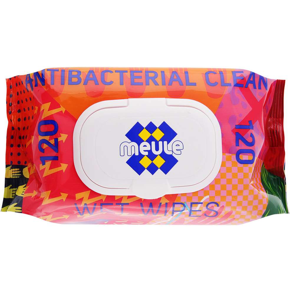Салфетки влажные Meule Очищающие антибактериальные 120 шт