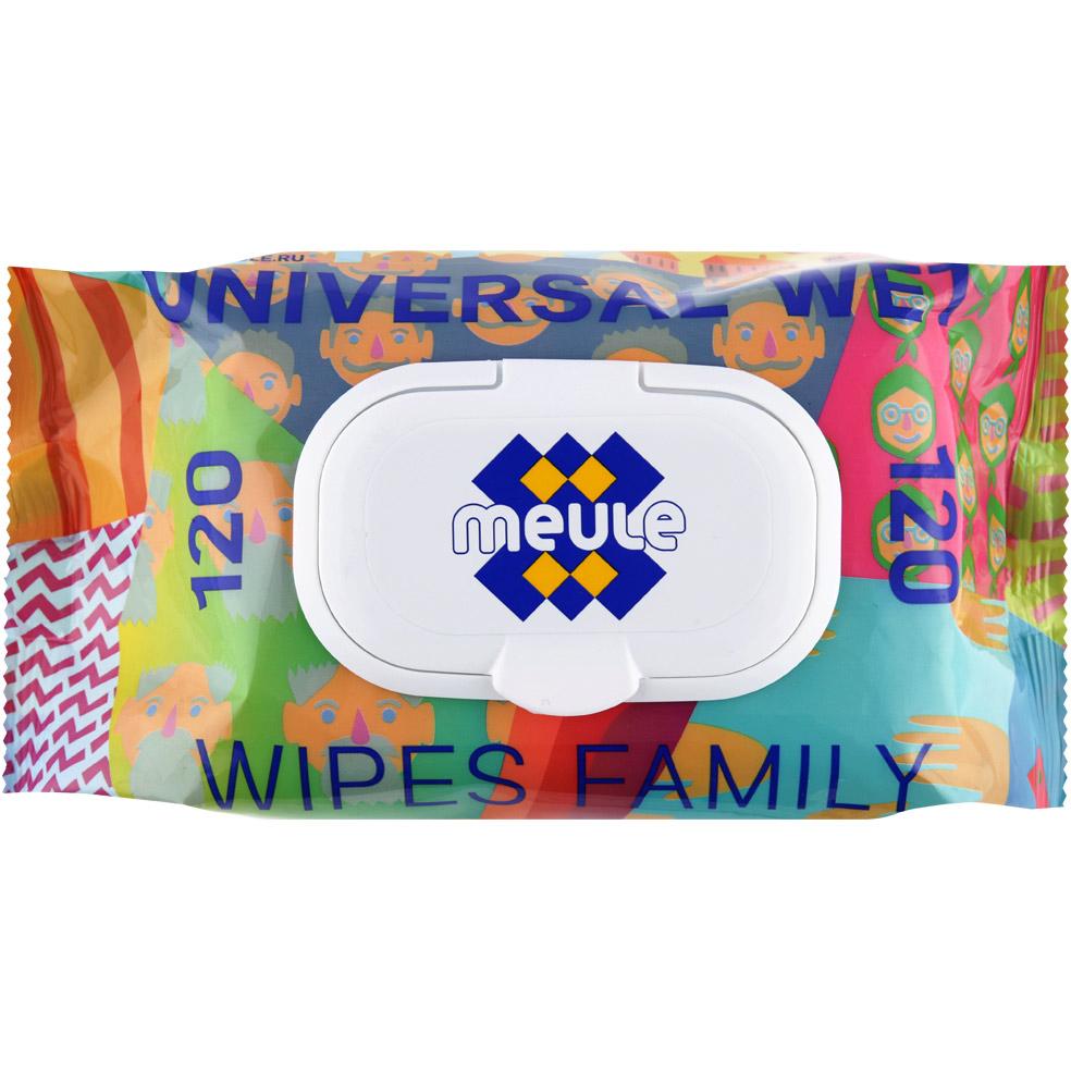 Фото - Салфетки влажные Meule Универсальные для всей семьи 120 шт влажные салфетки vestar для всей семьи с антибактериальным эффектом 70 шт