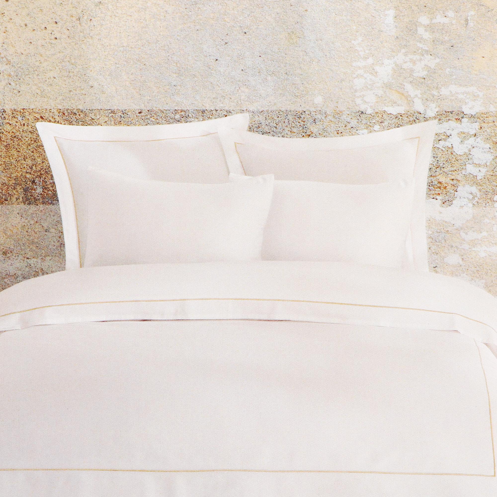 Постельный комплект Bella casa 1.5сп white / beige stripes