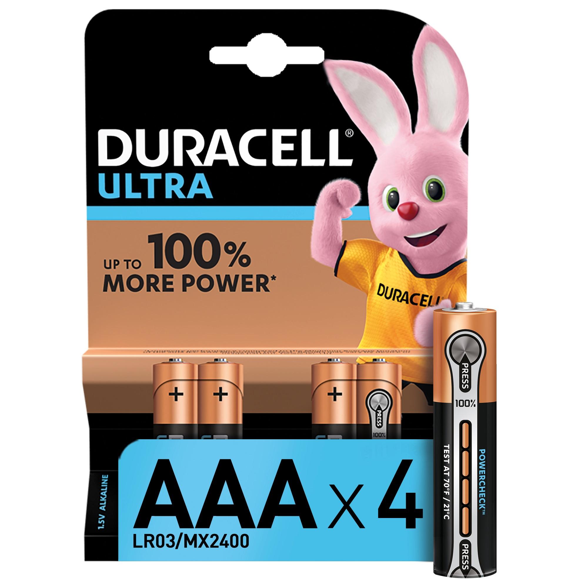 Батарейки Duracell Ultra Power AAА 1,5В 4 шт фото