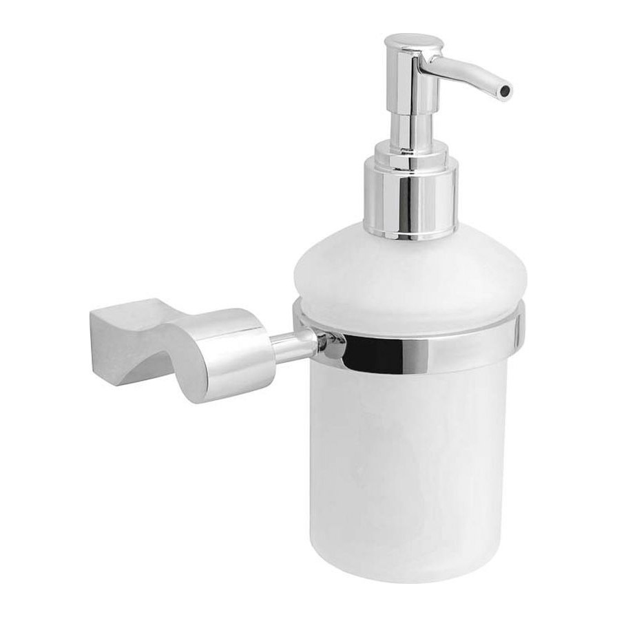 Купить Дозатор для жидкого мыла Verran, дозатор, белый, хром, стекло, цинк