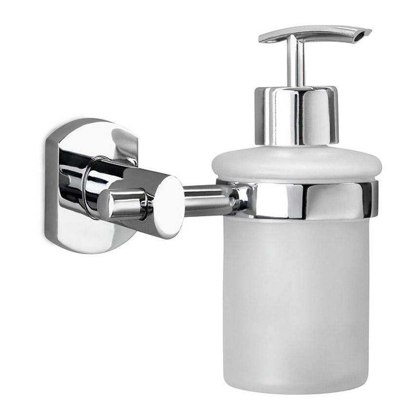 Купить Дозатор для жидкого мыла Verran, дозатор, белый, хром, пластик, стекло, металл