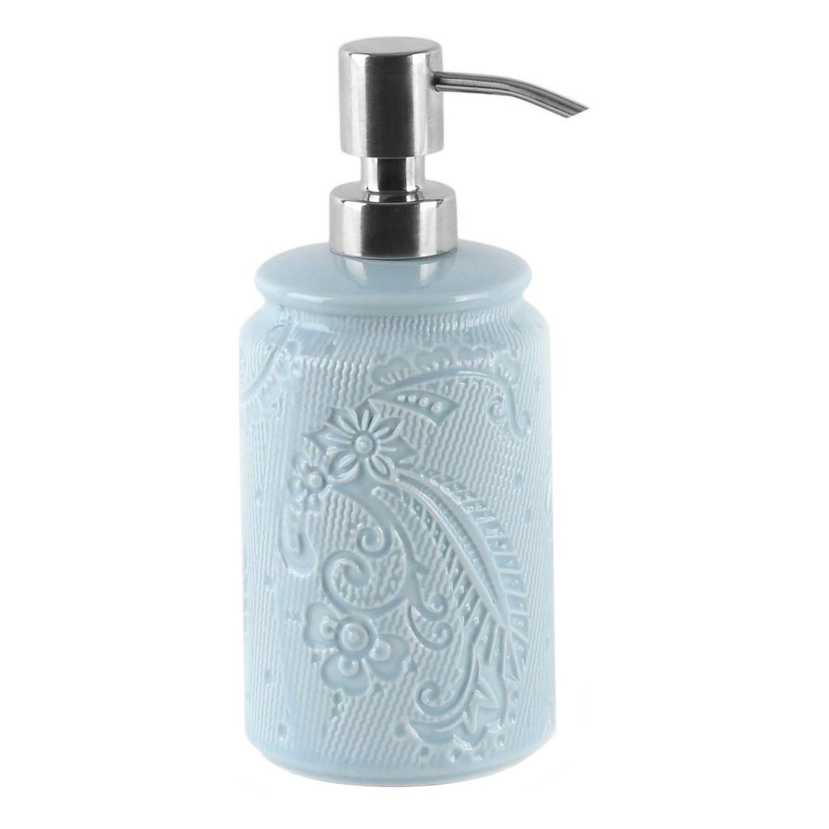 Купить Дозатор для жидкого мыла Wess, дозатор, голубой, керамика, металл