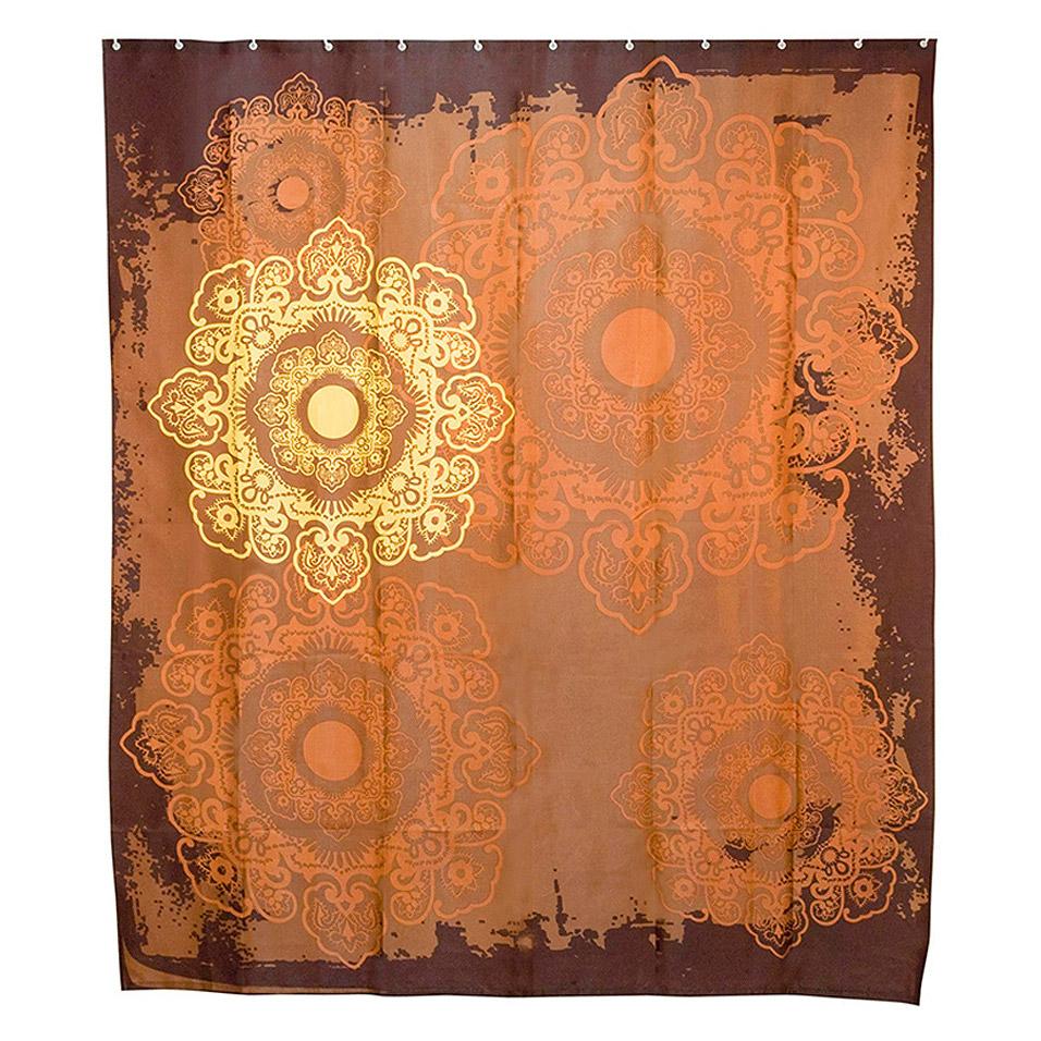 Купить Занавеска штора для ванной комнаты Wess, шторы, Коричневый, Полиэстер