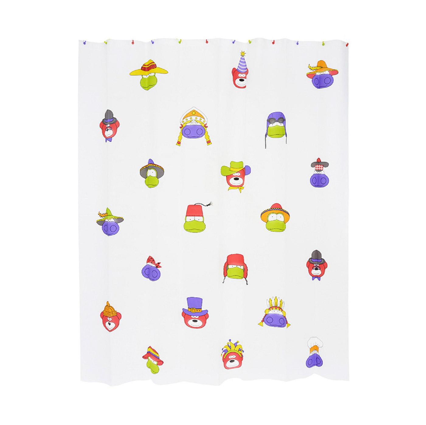 Купить Занавеска штора для ванной комнаты Moroshka kids, шторы, белый, этиленвинилацетат