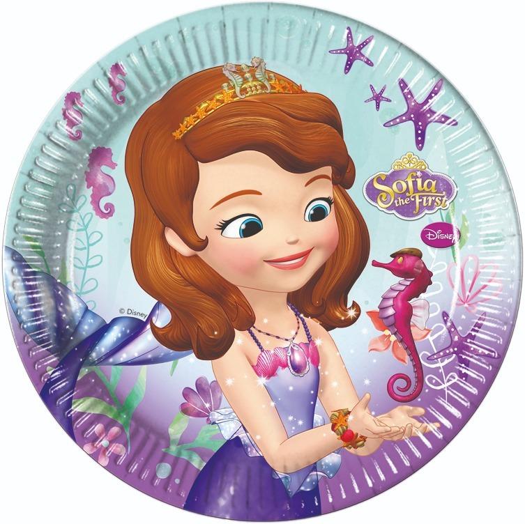 Набор тарелок бумажных Procos sofia pearl of the sea 23 см. 8 шт набор стаканов procos элегантная вечеринка 200 мл 8 шт
