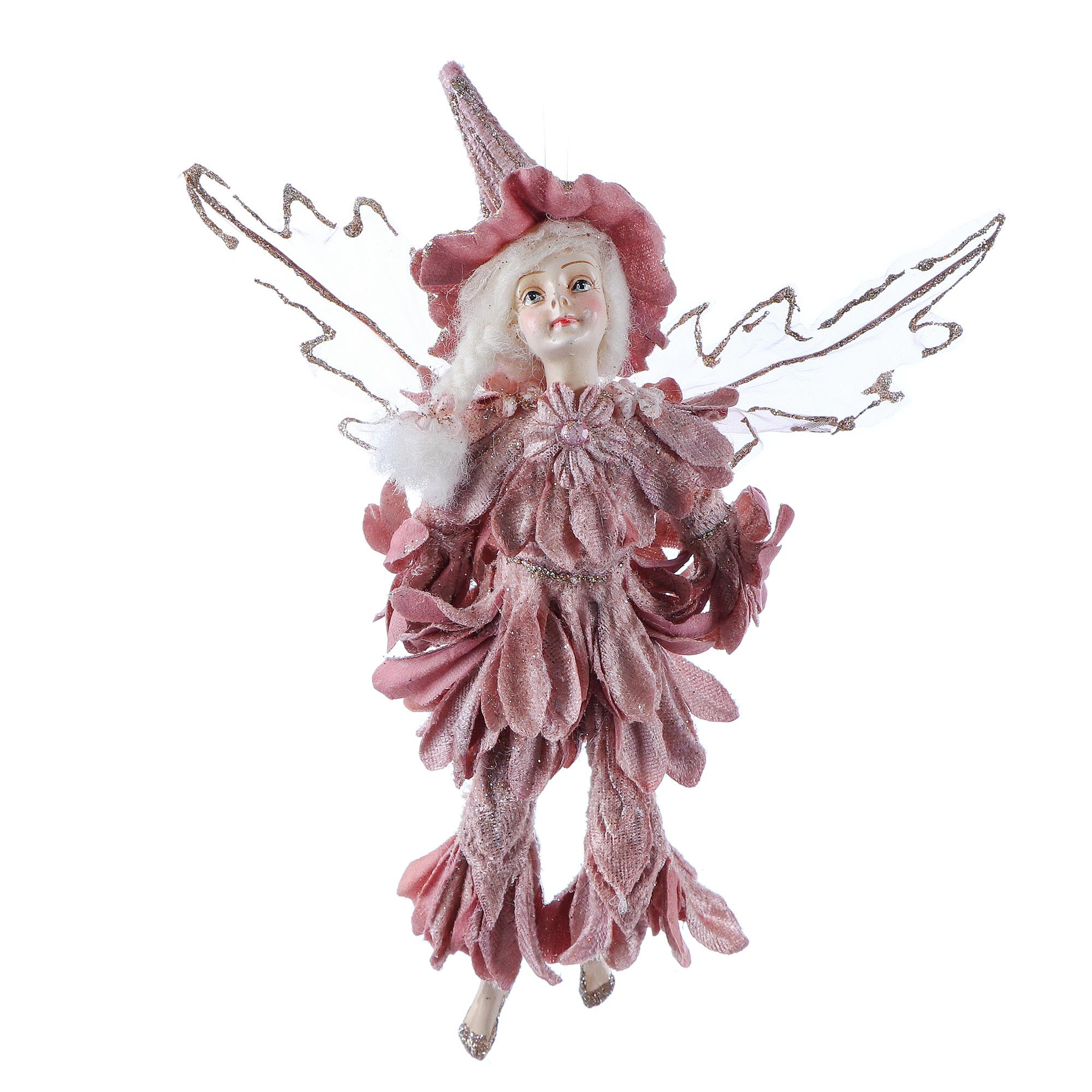 Купить Подвеска Edelman ny фея фиолетовая/розовая в ассортименте, Игрушка елочная, полирезина