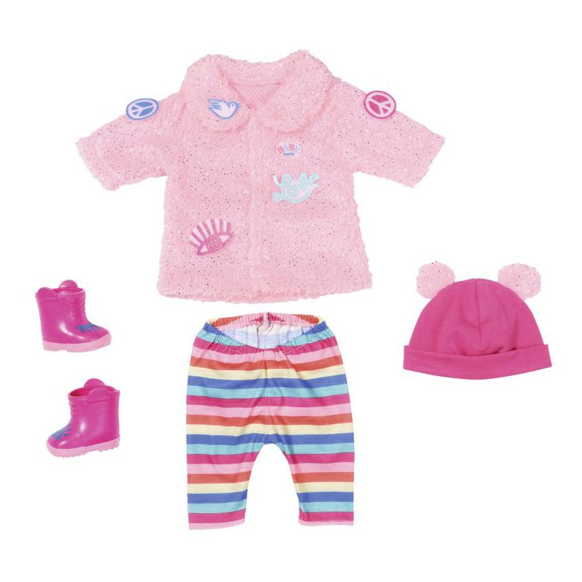 Купить Зимняя одежда Zapf Baby Born для модниц, Zapf Creation, розовый, текстиль, пластик, Кукольные аксессуары