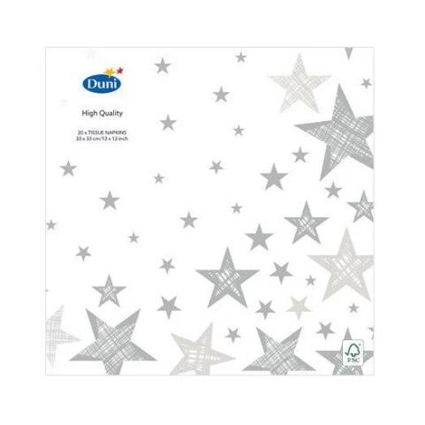 Салфетки бумажные Duni Shining Star White 33х33 см 20 шт одеяло евро shining star shining star mp002xu086zx