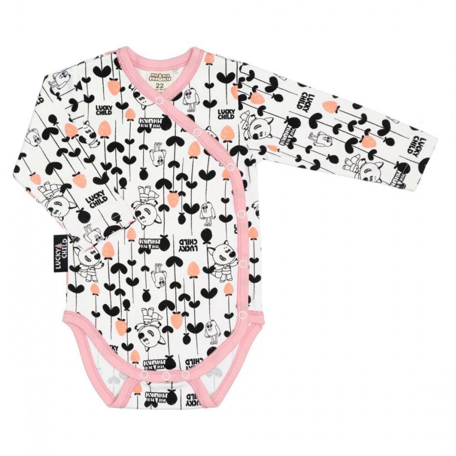 Фото - Боди Lucky Child МИ-МИ-МИШКИ с длинным рукавом цветной 68-74 футболка для мальчика lucky child ми ми мишки цветная 68 74