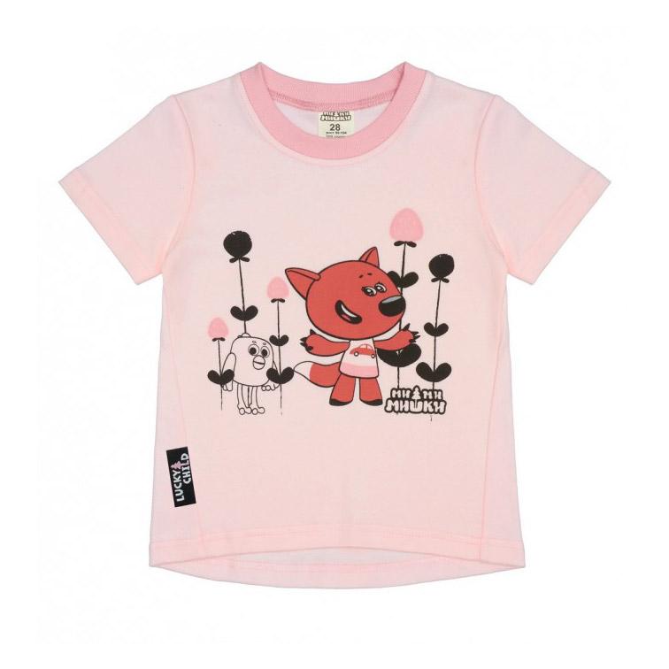 Футболка Lucky Child МИ-МИ-МИШКИ светло-розовая 92-98 фото