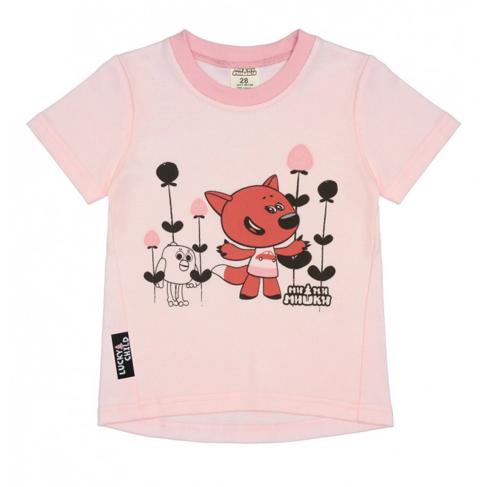 Футболка Lucky Child МИ-МИ-МИШКИ розовая 98-104