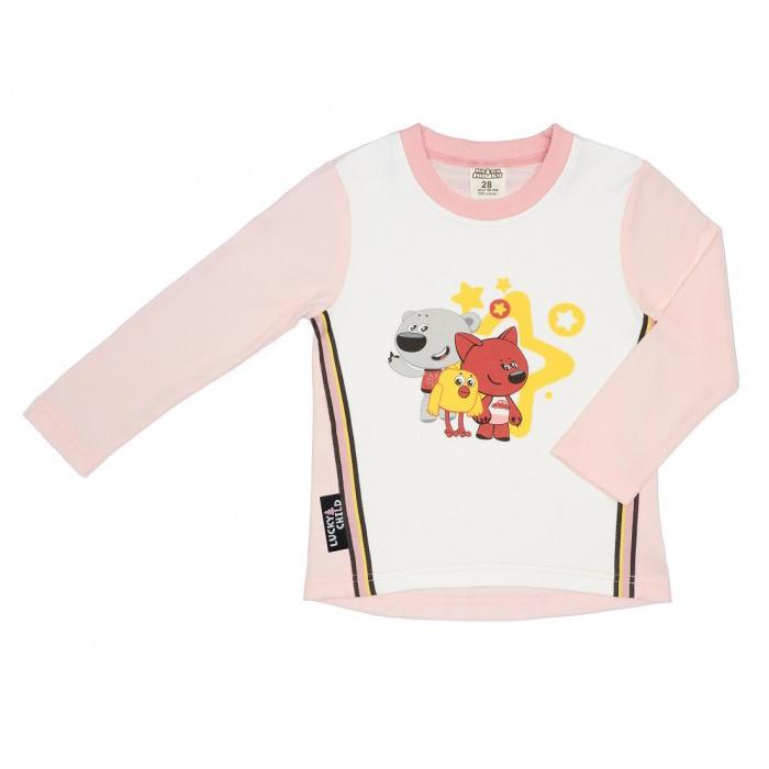 Лонгслив Lucky Child МИ-МИ-МИШКИ светло-розовый 80-86 фото