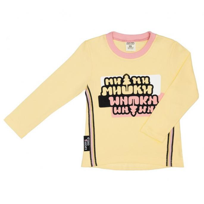 Лонгслив Lucky Child МИ-МИ-МИШКИ желтый 80-86 тюбинг nika тб1 80 мм 80см ми ми миишки желтый с автокамерой