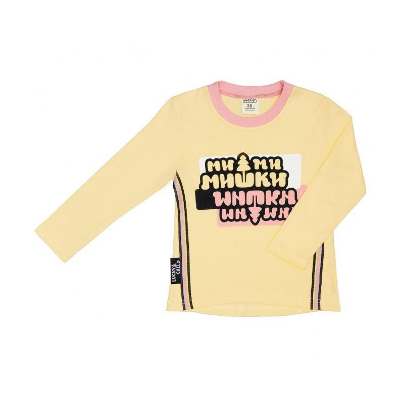 Лонгслив Lucky Child с длинным рукавом МИ-МИ-МИШКИ желтый 92-98 фото