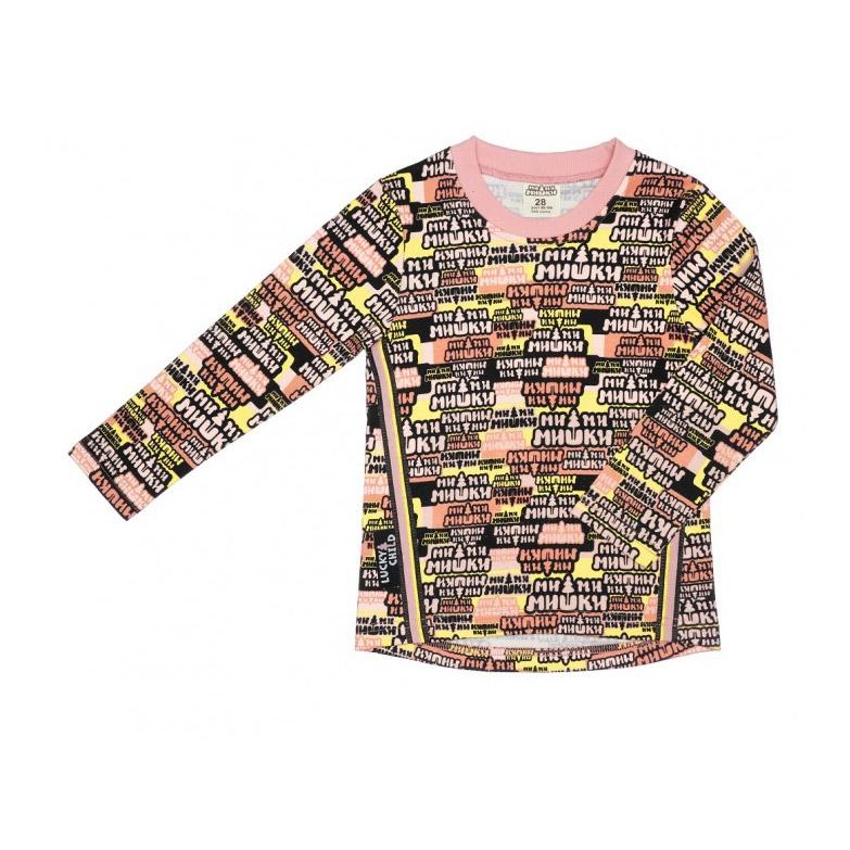 Купить Лонгслив Lucky Child с длинным рукавом МИ-МИ-МИШКИ разноцветный 92-98, Разноцветный, Интерлок, Для девочек, Всесезонный,
