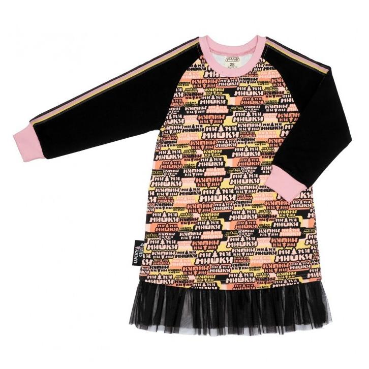 Платье Lucky Child МИ-МИ-МИШКИ многоцветное 80-86 фото