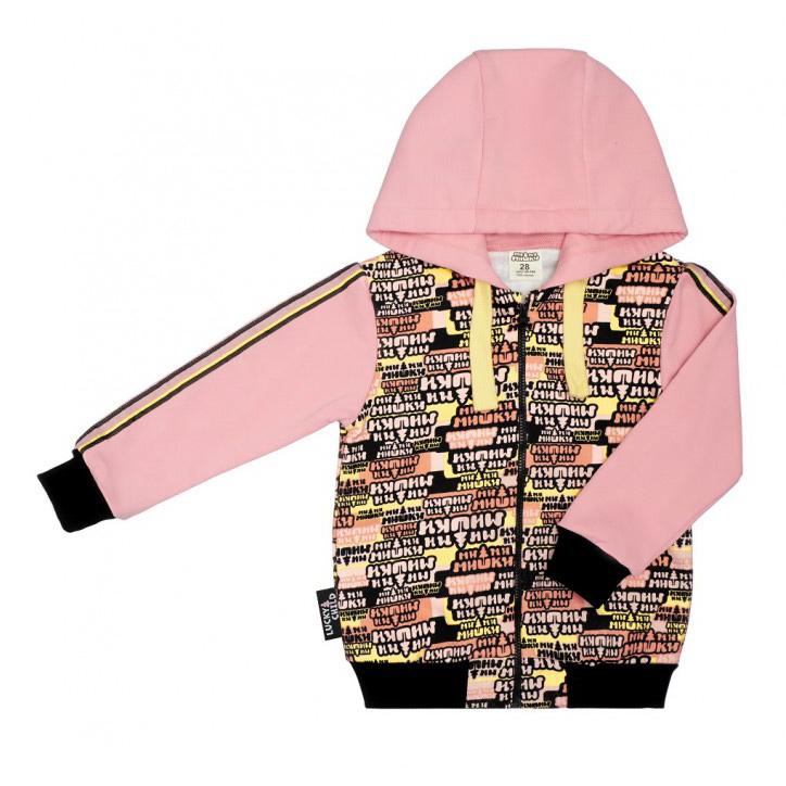Купить Куртка Lucky Child на молнии МИ-МИ-МИШКИ 86-92, Разноцветный, Футер, Для девочек, Осень-Зима,