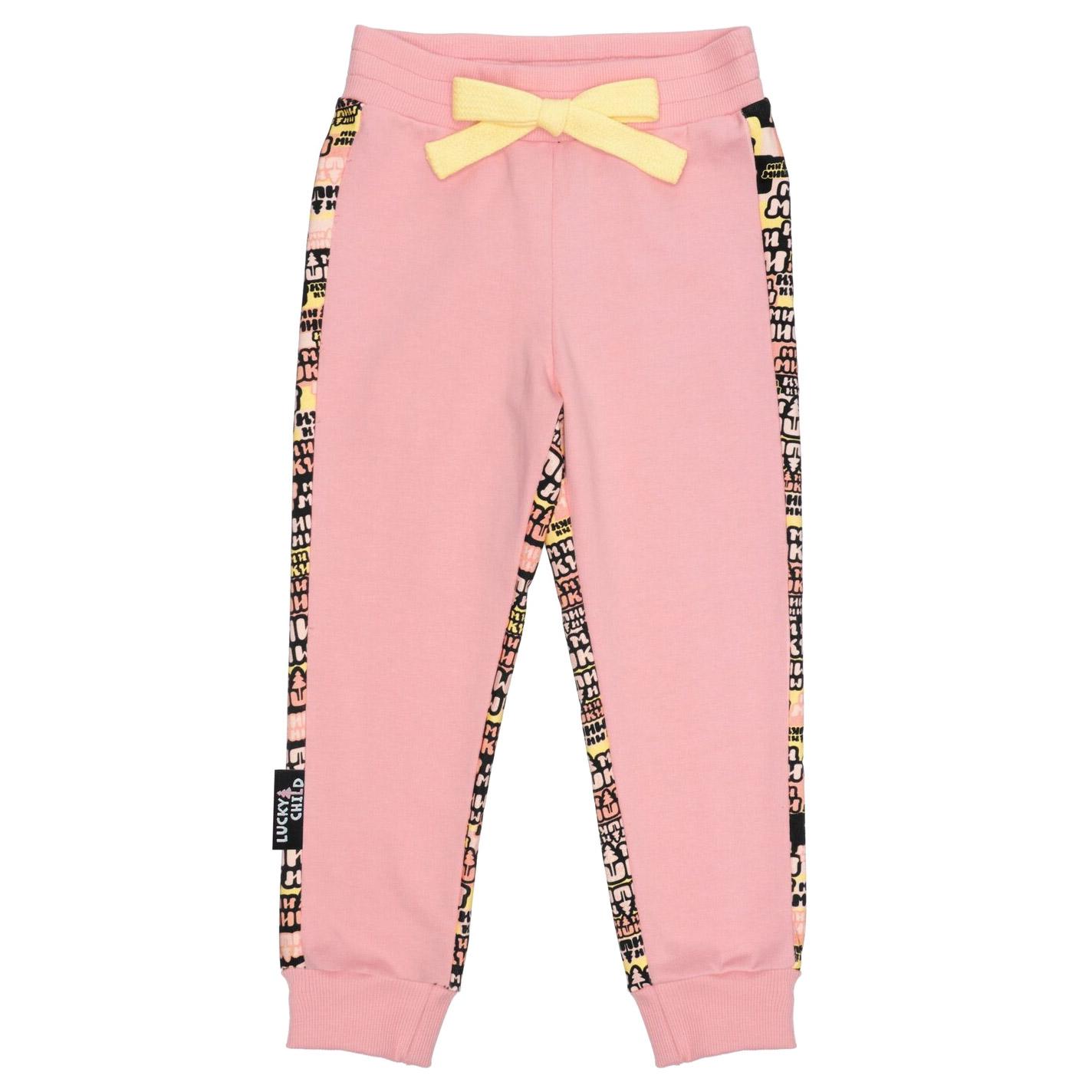 Купить Брюки Lucky Child Ми-ми-мишки розовые 98-104, Розовый, Футер, Для девочек, Осень-Зима,