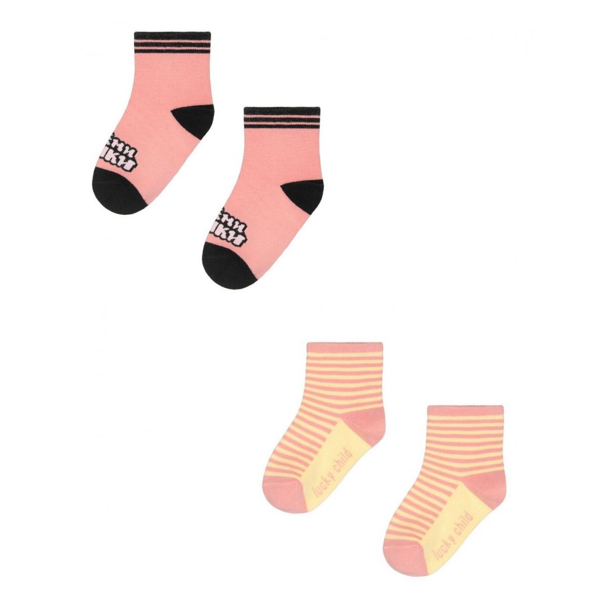Купить Комплект носков Lucky Child МИ-МИ-МИШКИ розовый 2 шт 1820, Розовый, Кашкорсе, Для девочек, Всесезонный,