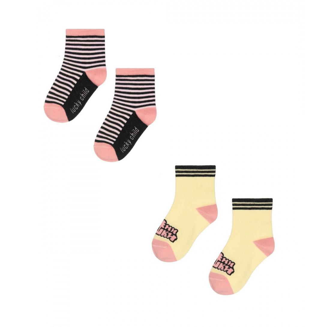Комплект носков Lucky Child МИ-МИ-МИШКИ желтый 2 шт 10\12 фото