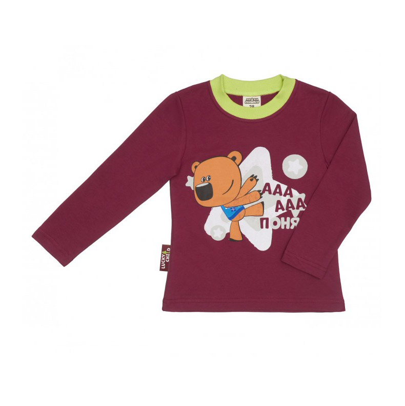 Лонгслив Lucky Child-мишки бордовый