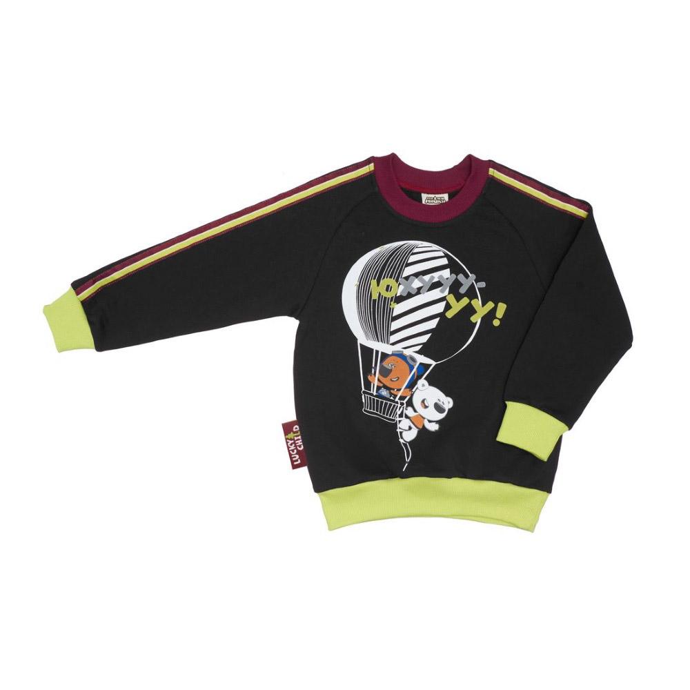 Фото - Толстовка Lucky Child Ми-Ми-Мишки серая 68-74 футболка для мальчика lucky child ми ми мишки цветная 68 74