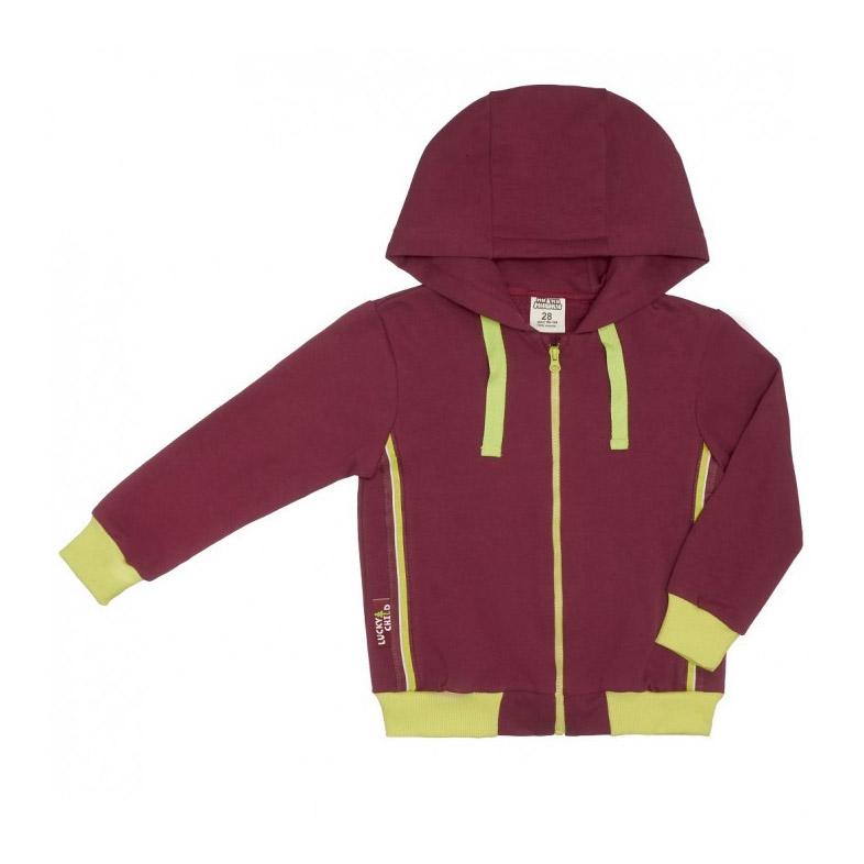 Куртка на молнии Lucky Child МИ-МИ-МИШКИ бордовая 110-116 фото