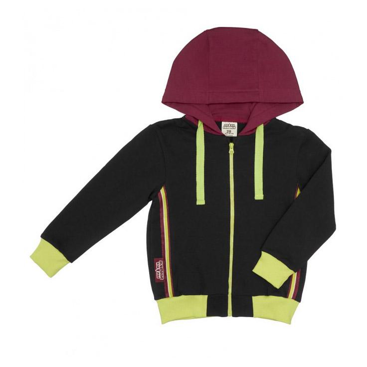 Купить Куртка на молнии Lucky Child МИ-МИ-МИШКИ серая 104-110, Серый, Футер, Для детей, Осень-Зима,