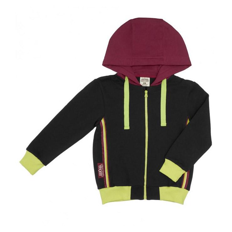 Купить Куртка на молнии Lucky Child МИ-МИ-МИШКИ серая 122-128, Серый, Футер, Для детей, Осень-Зима,