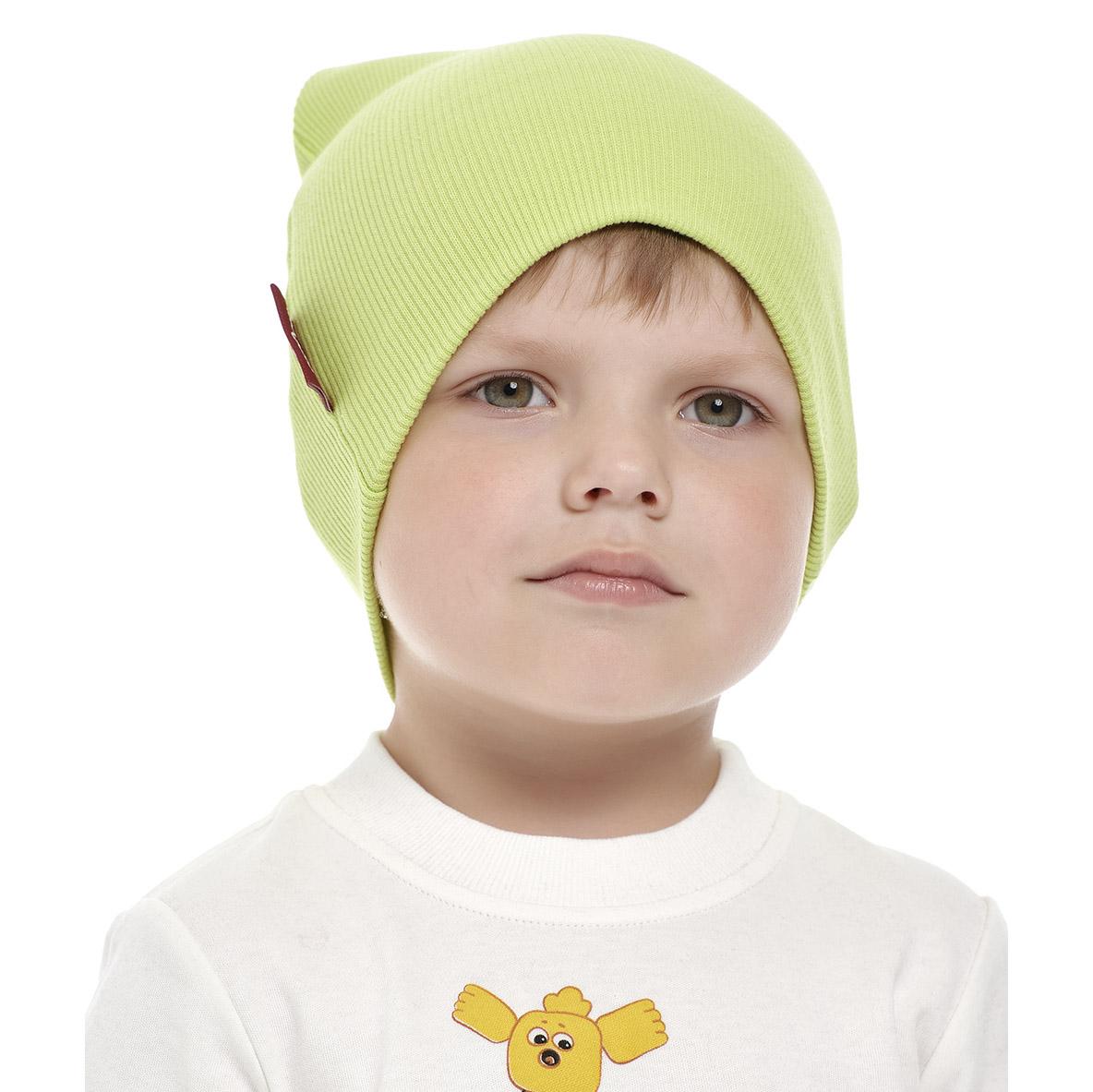 Купить Шапка Lucky Child Ми-ми-мишки зеленая 47, Зелёный, Кашкорсе, Для мальчиков, Осень-Зима,