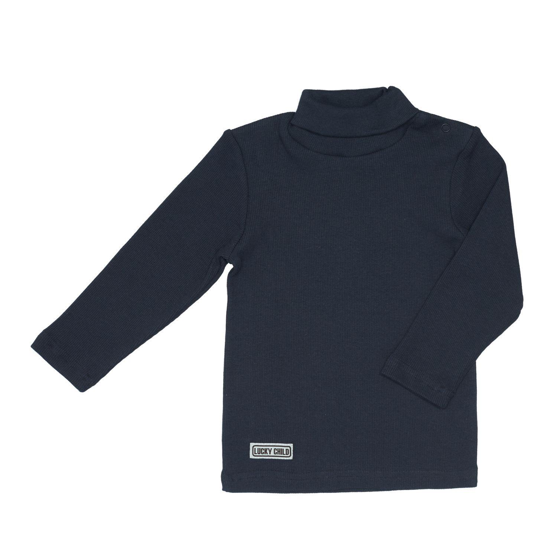 шорты для мальчика lucky child летний марафон цвет голубой 19 341 размер 86 92 Водолазка Lucky Child Кашкорсе серая 86-92