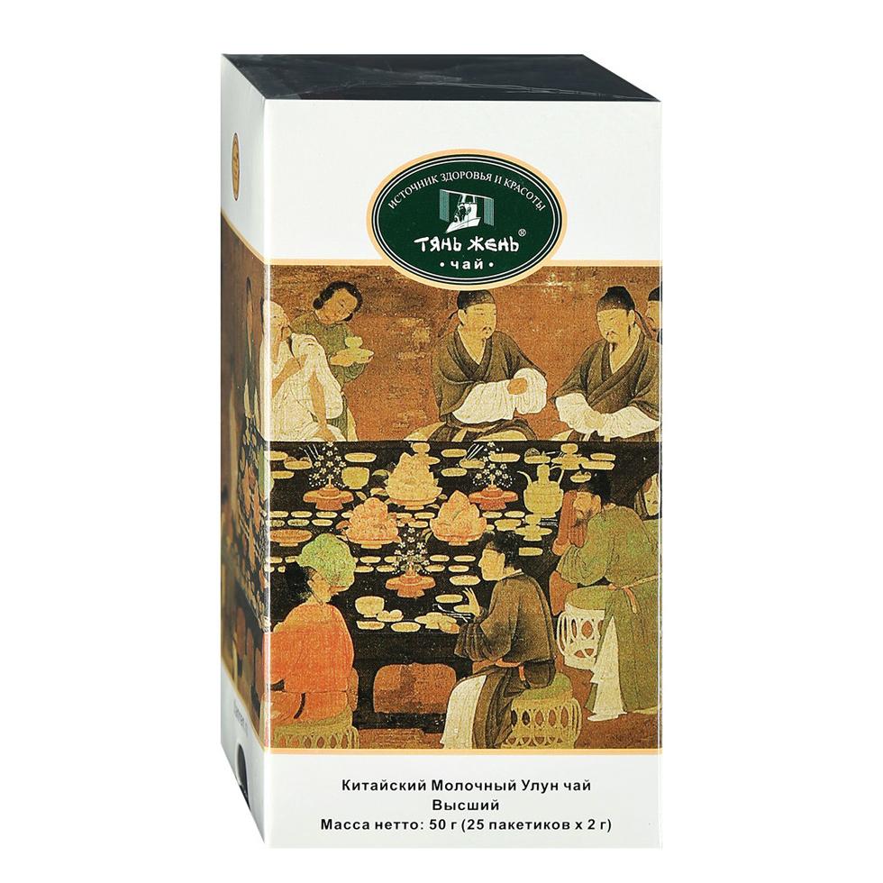 Чай зеленый Тянь-Жень Китайский Молочный Улун 25 пакетиков фото