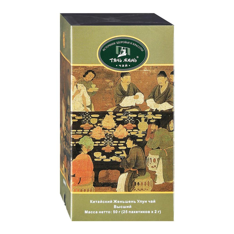 Чай зеленый Тянь-Жень Китайский Женьшень Улун 25 пакетиков