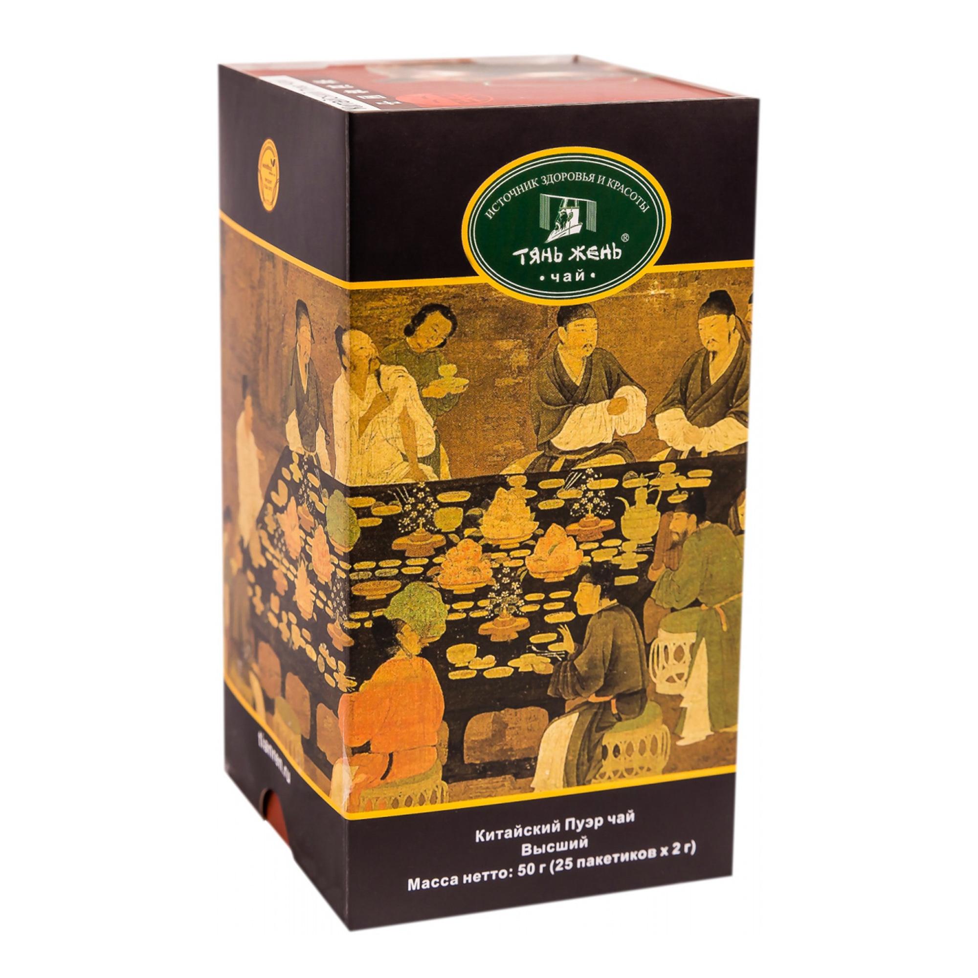 Чай черный Тянь-Жень Пуэр 25 пакетиков фото