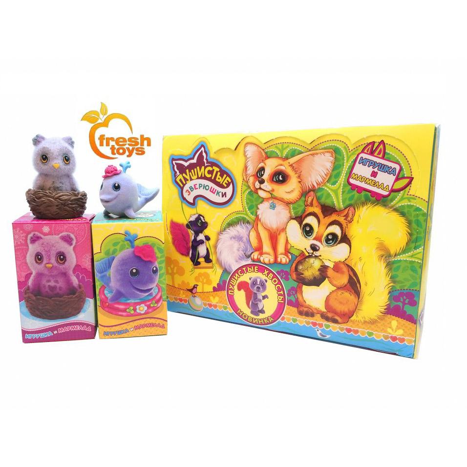 Мармелад Фрэш Пушистые Зверюшки с игрушкой в ассортименте фото