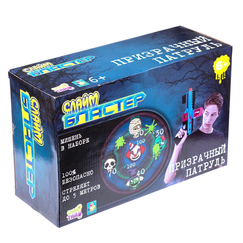 Игрушка 1TOY Слайм Бластер Призрачный патруль Т15832 бластер 1 toy слайм призрачный патруль т15832