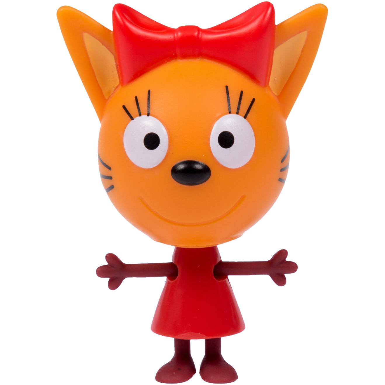 Купить Фигурка 1TOY Три кота Карамелька Т16175, красный, оранжевый, коричневый, пластик, для мальчиков, для девочек, Наборы игровые