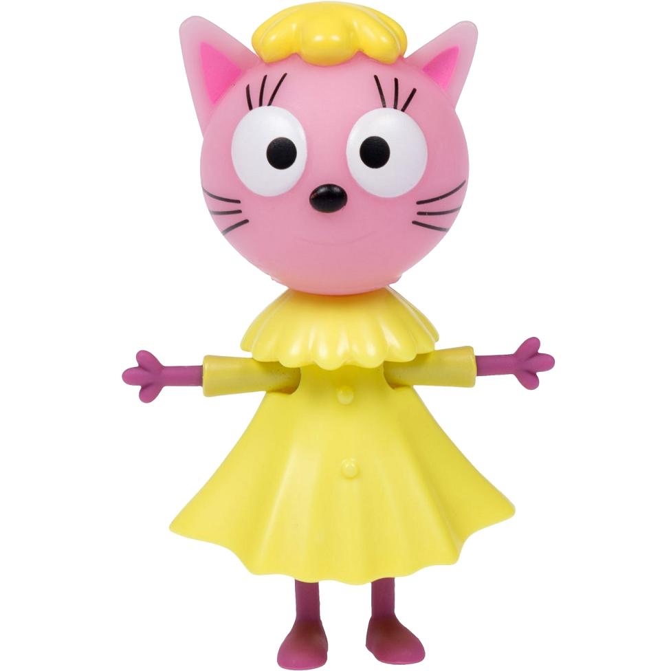 Купить Фигурка 1TOY Три кота Лапочка Т16178, желтый, розовый, пластик, для мальчиков, для девочек, Наборы игровые