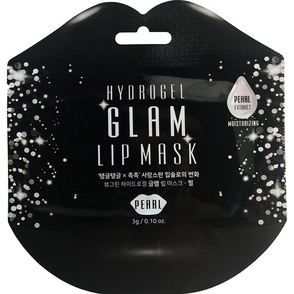 Гидрогелевая маска для губ BeauuGreen Glam С экстрактом жемчуга