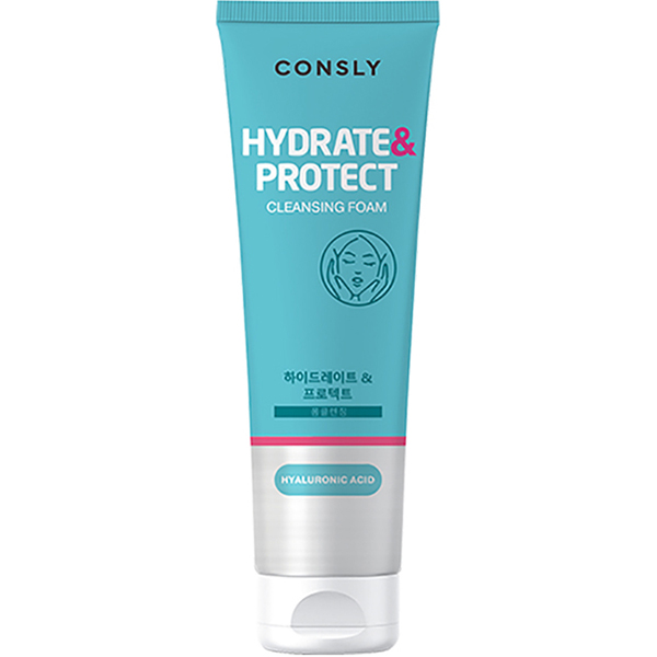 Фото - Пенка для умывания Consly Hydrate&Protect Hyaluronic Acid Cleansing Foam 120мл пенка для умывания milky piggy elastic pore cleansing foam 120мл