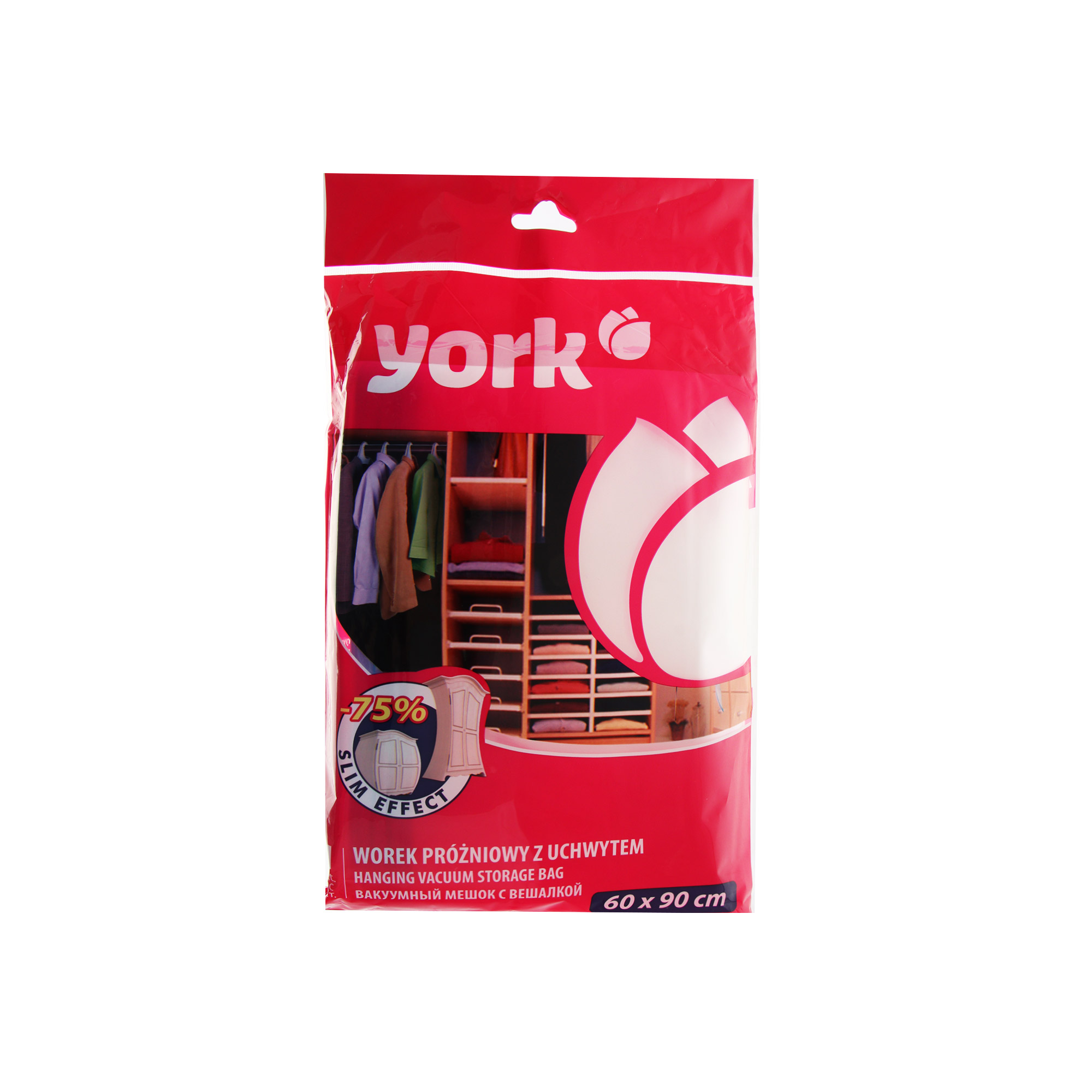 Набор вакуумный мешок с вешалкой York 60x90cм фото