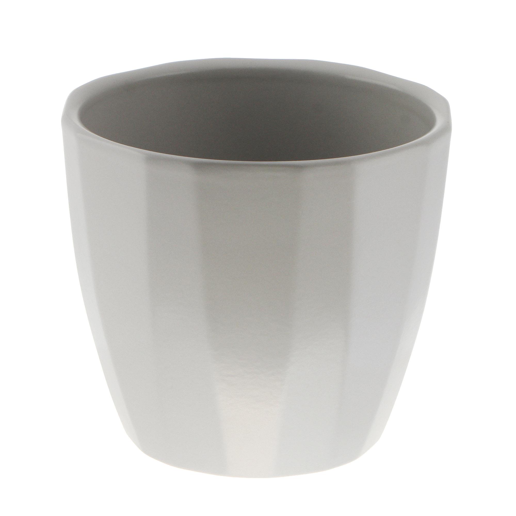 Кашпо Scheurich elegance grey 15см