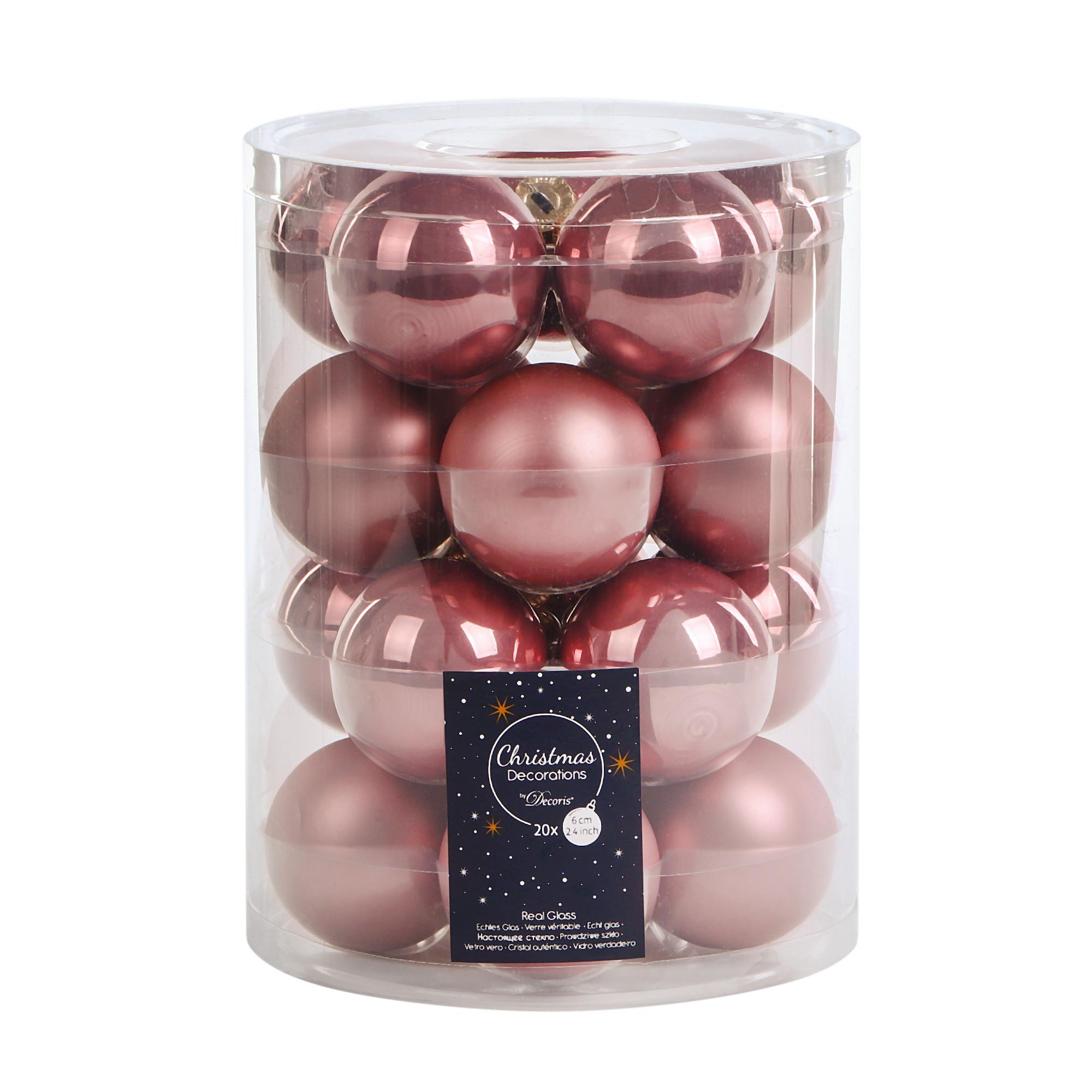 Набор шаров на елку Kaemingk 6 см 20шт розовые