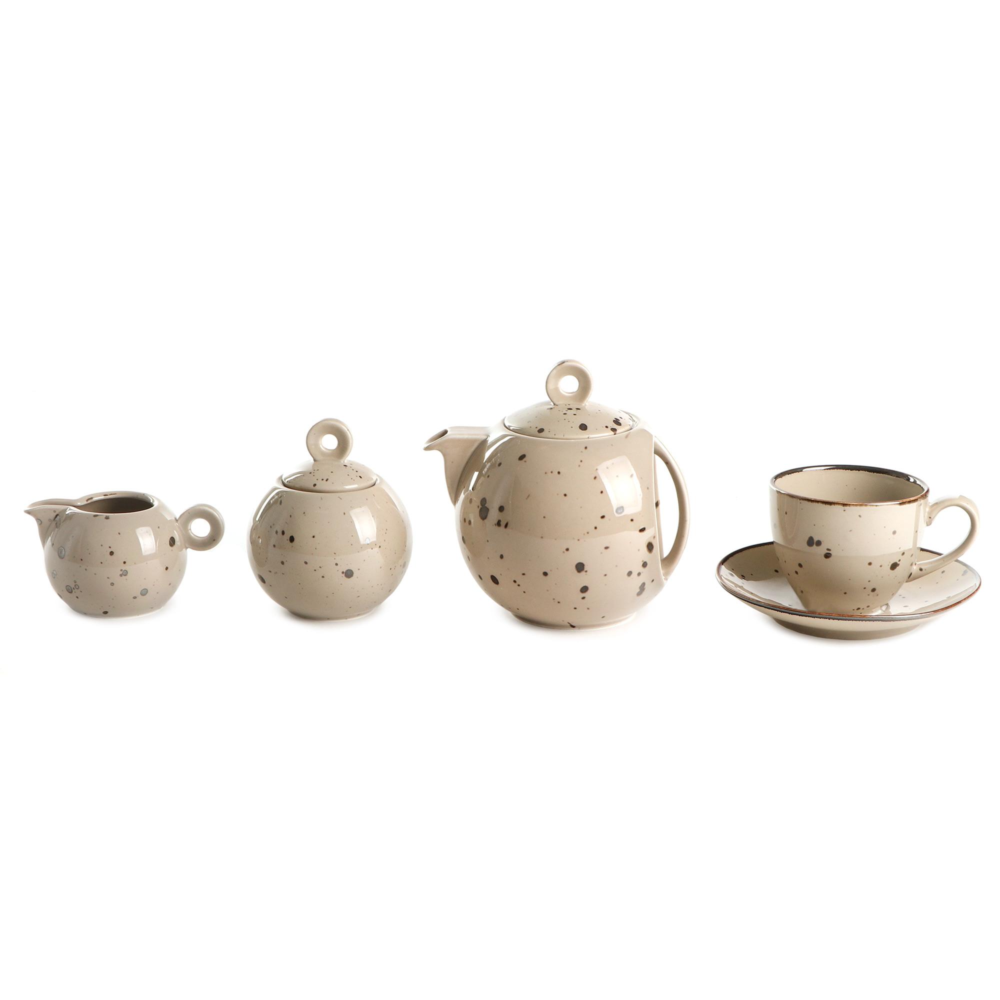 Сервиз чайный Top Art Коттедж Браун 15 предметов